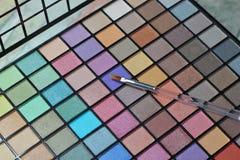 Eyeshadow makeup large palette Royalty Free Stock Image
