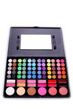 Eyeshadow, a makeup multi colored palette Royalty Free Stock Images