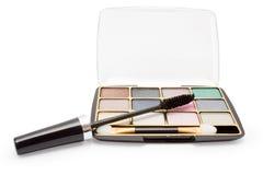 Eyeshadow and mascara Royalty Free Stock Images