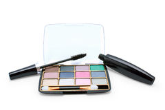 Eyeshadow and mascara Royalty Free Stock Image