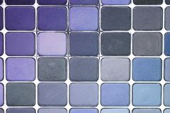 Eyeshadow Palette. Blue Royalty Free Stock Images