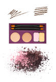 Eyeshadow palette Stock Images