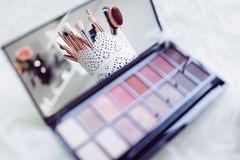 Eyeshadow palette Royalty Free Stock Image