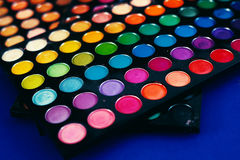 eyeshadow palette in blue background Stock Image