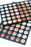 Eyeshadow palette, close-up, isolated Royalty Free Stock Image