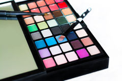 Eyeshadow palette closeup Stock Image