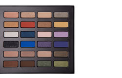 Eyeshadow palette with copy-space for your text Stock Image