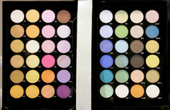 Eyeshadow palette. A large number of colors stock image