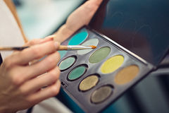 Eyeshadow palette Royalty Free Stock Photos