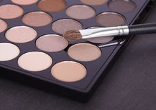 Eyeshadow palette. Make-up on a slate background Royalty Free Stock Images
