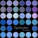 Eyeshadow Palette in shades of blue and mauve stock image