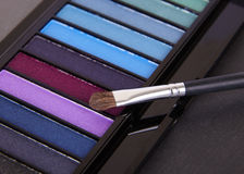 Eyeshadow Palette. On a slate background Stock Image