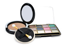 Eyeshadow and powder Stock Photography