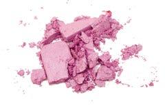 Eyeshadow powder and brush Stock Image