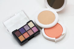 Eyeshadow and powder Stock Photos