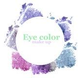 Eyeshadow set isolated on white. Stock Photos