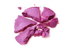 Eyeshadow violet crushed isolated on a white. Background Royalty Free Stock Images