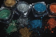 Eyeshadows Fotografia Royalty Free