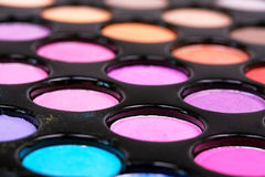 Eyeshadows Different Colors Royalty Free Stock Photos