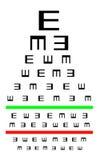 Eyesight concept - Good eyesight. Eyesight concept - Test chart, symbols getting smaller - Good eyesight Stock Photo