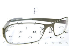 Eyesight test Stock Images