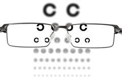 Eyesight test Stock Images