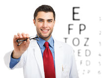 Eyesight test Stock Photo