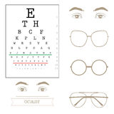 Eyesight test chart Royalty Free Stock Images