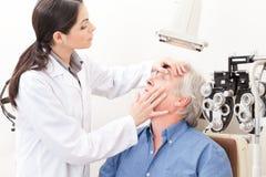 Eyesight Test Examination Stock Photo