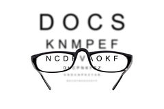 Eyesight test Royalty Free Stock Photography