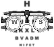 Free Eyesight Test Glasses And Reading Boards Stock Photo - 73719020