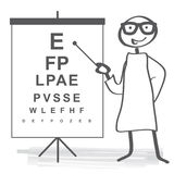 Eyesight test Royalty Free Stock Images