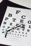 Eyesight or vision concept with glasses letters Stock Photography