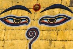 Eyesof Buddha Fotografering för Bildbyråer