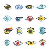Eyesvector icons templates isolated eye set Royalty Free Stock Images