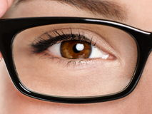 Eyewear κινηματογράφηση σε πρώτο πλάνο γυαλιών Στοκ Φωτογραφία