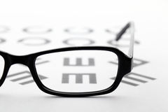 Eyewear and eyechart Stock Images