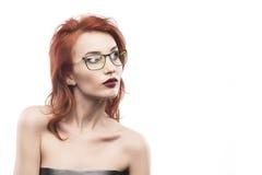 Eyewear glasses woman portrait isolated on white. Spectacle fram. E type 2 Royalty Free Stock Images