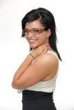 Eyewear glasses young woman happy stock photos