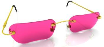 Eyewear with pink glasses Stock Image