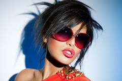 Eyewear rouge Photo libre de droits
