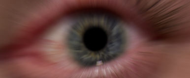 Close up of dark blurry eye. The eyes are the window to the soul Royalty Free Stock Photo