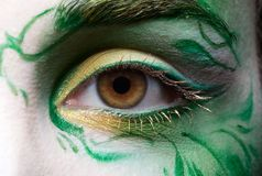Eyezone bodyart Royalty Free Stock Photo