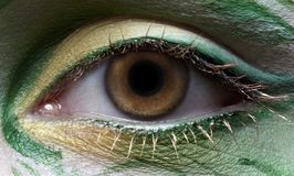 Eyezone bodyart Royalty Free Stock Photos