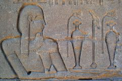 eygpt hieroglyphics Στοκ Φωτογραφία