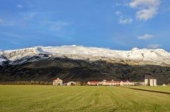Eyjafjallajökullvolvano IJsland Stock Fotografie