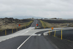 eyjafjallajokull Исландия страны около дороги Стоковые Фото