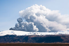 Eyjafjallajokull eruption Royalty Free Stock Photo
