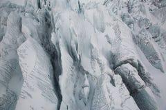 Eyjafjallajokull Glacier in Iceland. Crevasse in Eyjafjallajokull Iceland Stock Image