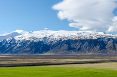 Eyjafjallajokull volcano. In Iceland photographed in spring 2014 Royalty Free Stock Image